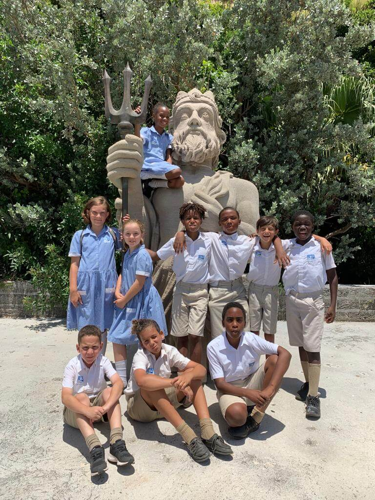 St. George's Prep students during a visit to the Museum